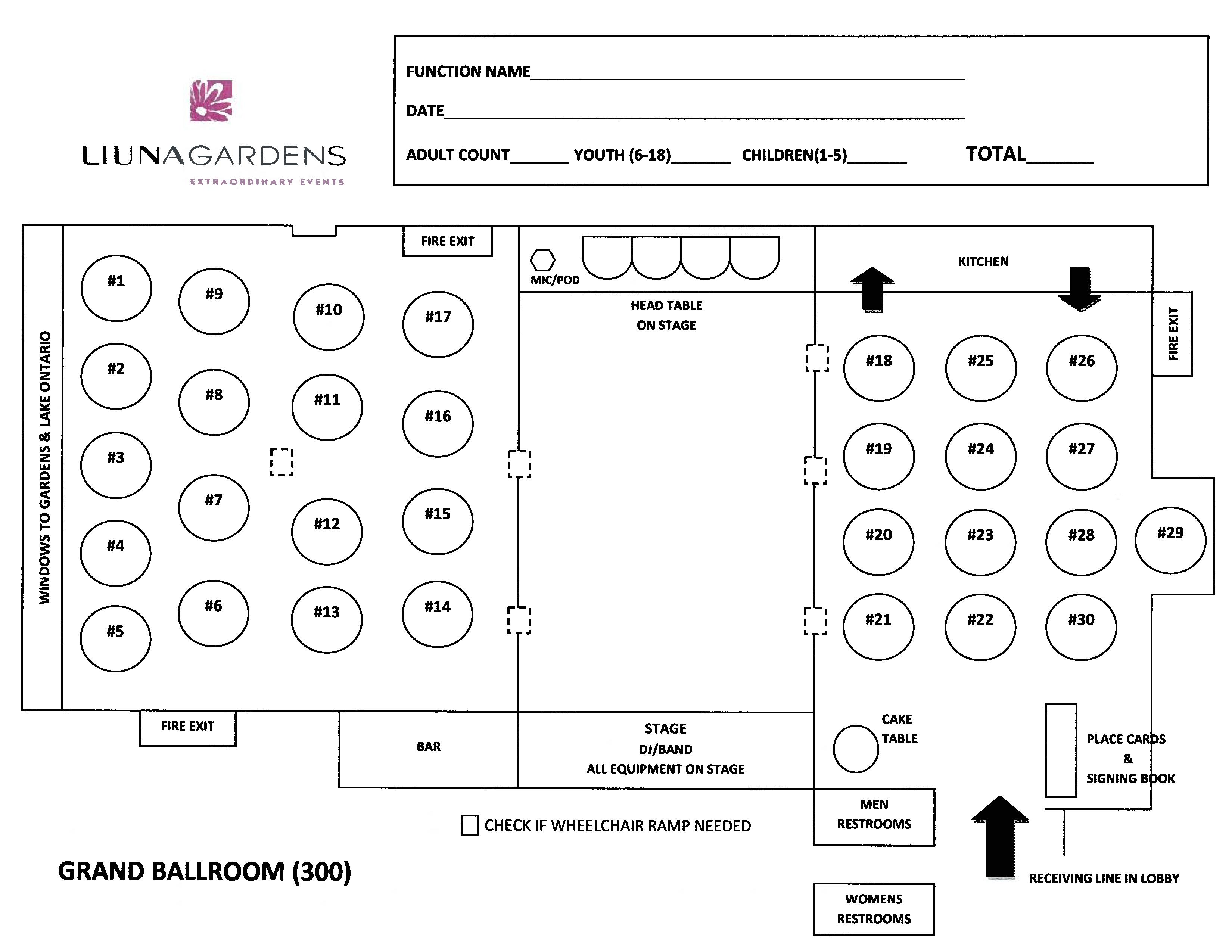Gardens Floorplans - Grand Ballroom