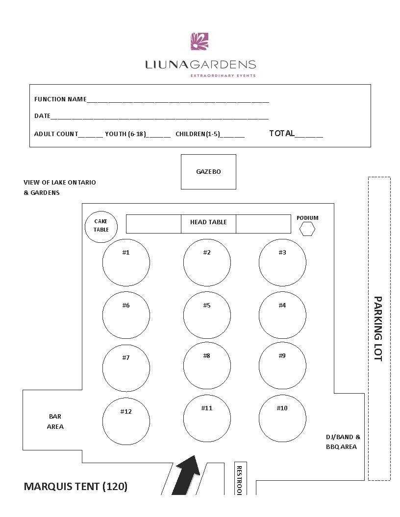 Gardens Floorplans - Marquis Tent