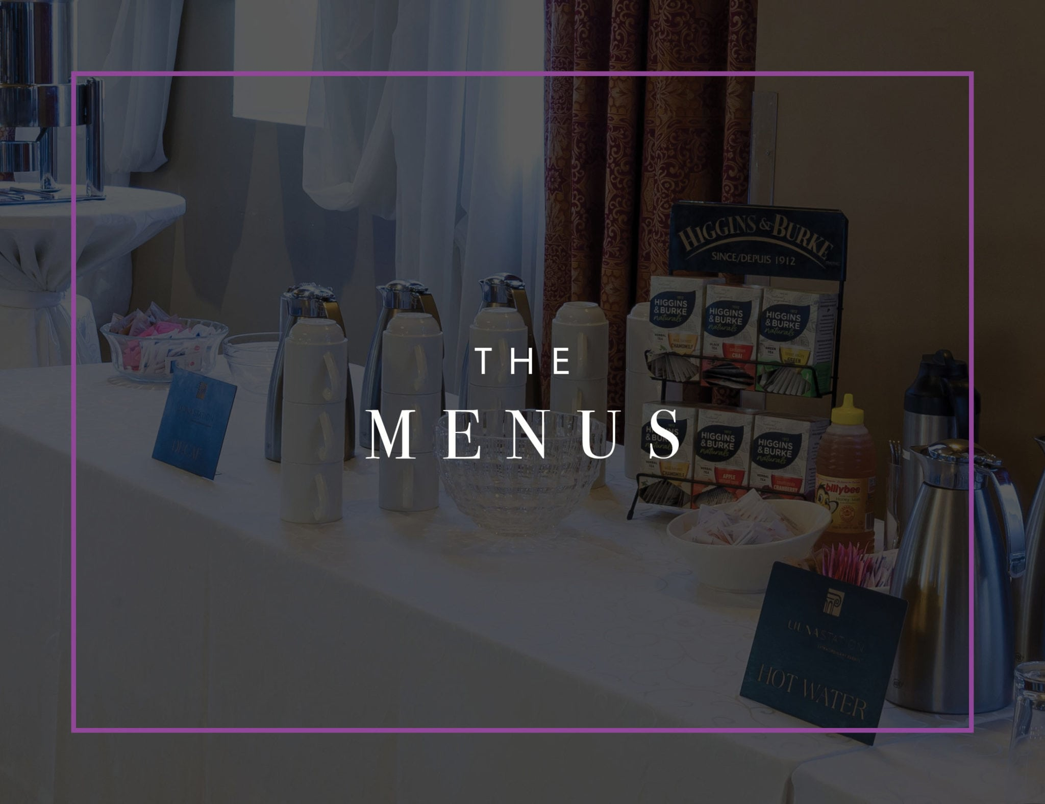 Corporate menus